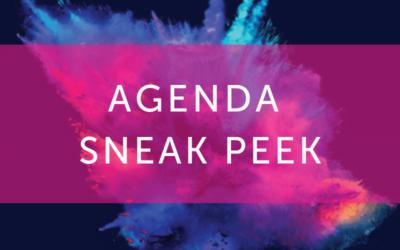 Agenda sneak peek